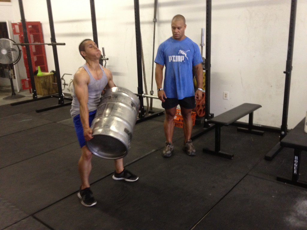 Working Out With a Keg