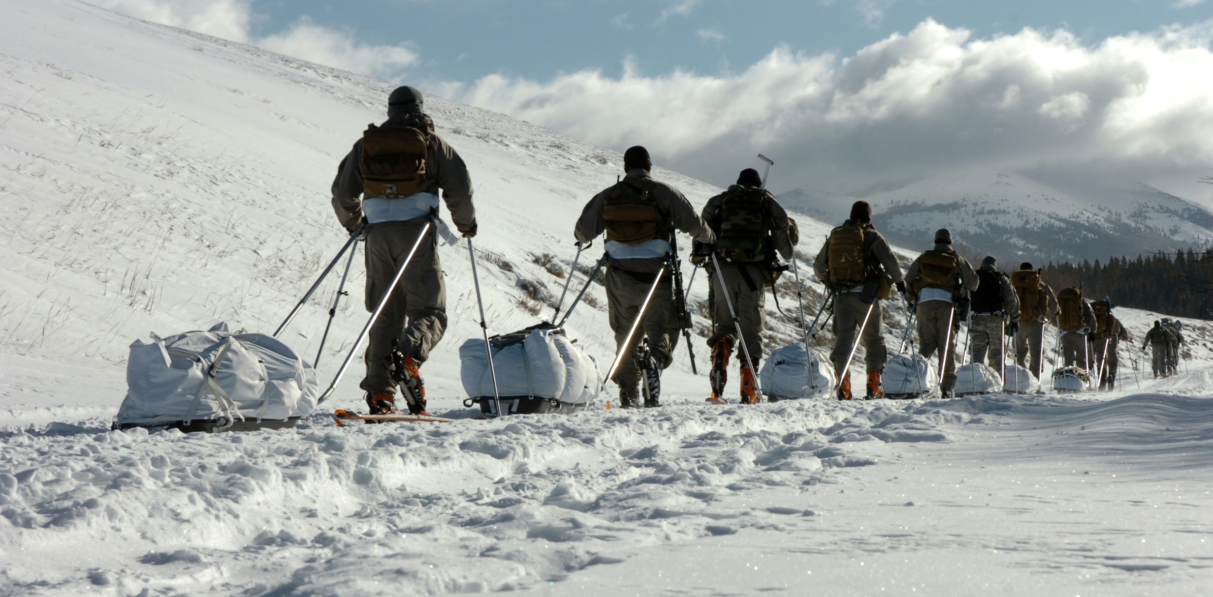 US Army Special Forces soldiers conduct cold weather training Making No EXCUSES