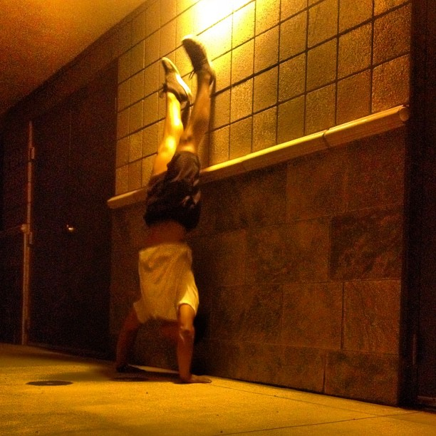 late night handstands workout