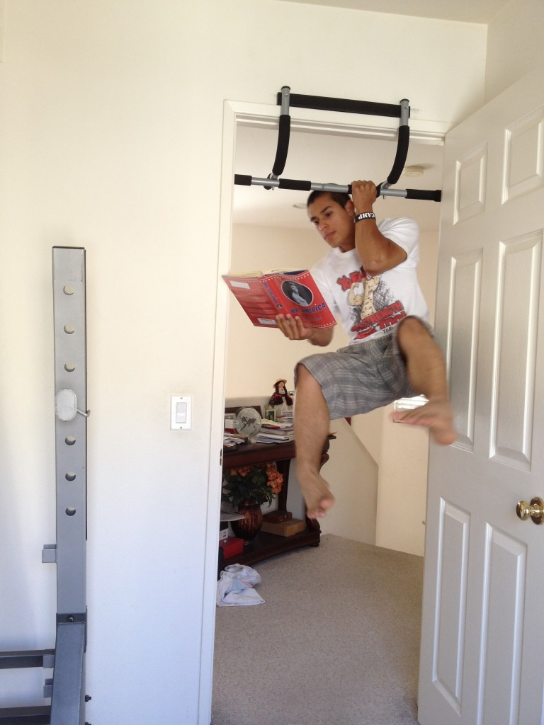 If you feel like doing pull ups while reading - DO IT!