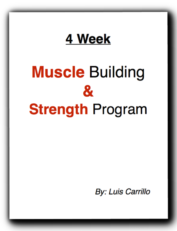 4 week muscle and strength plan