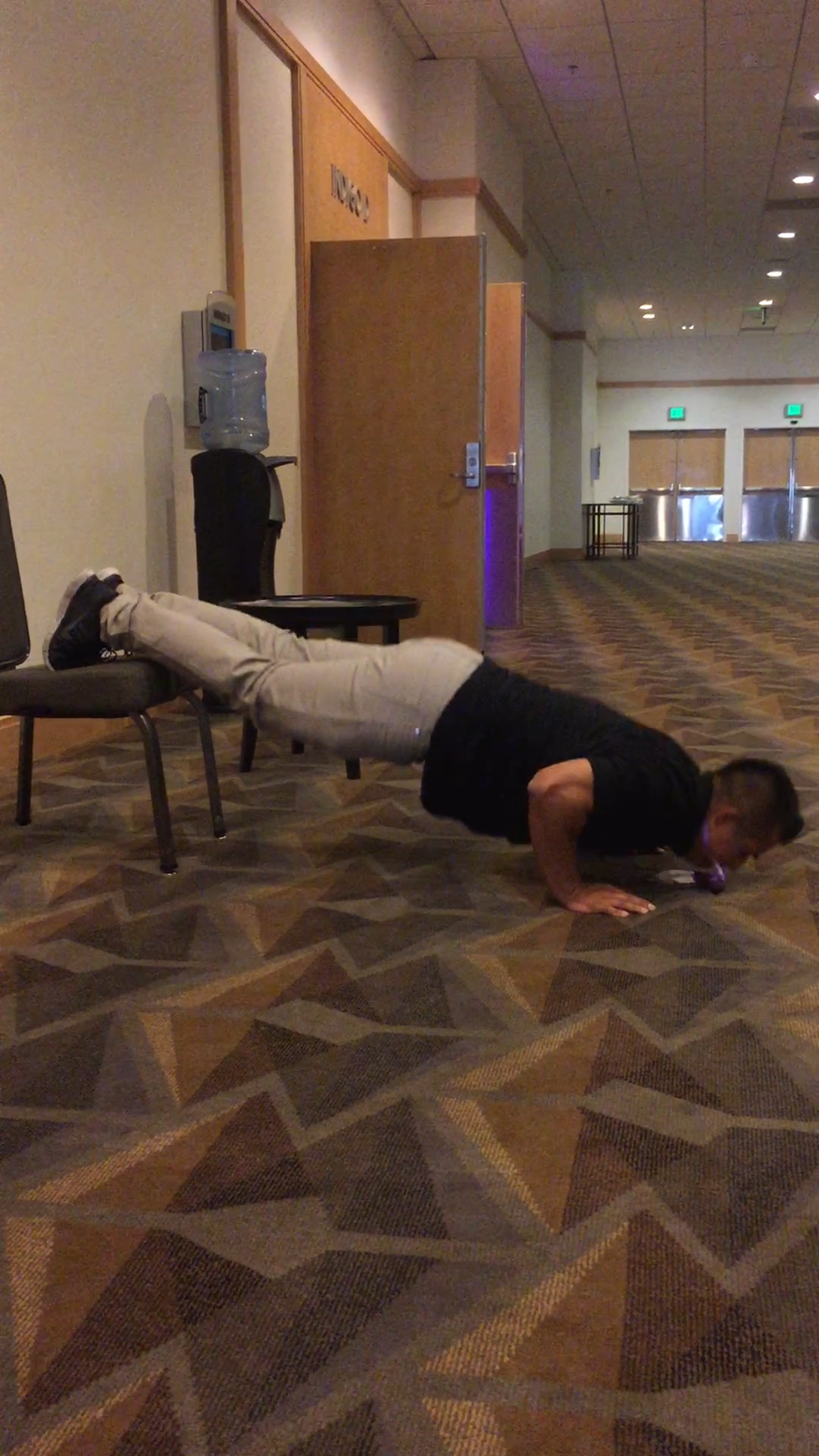 Chair Elevated push ups