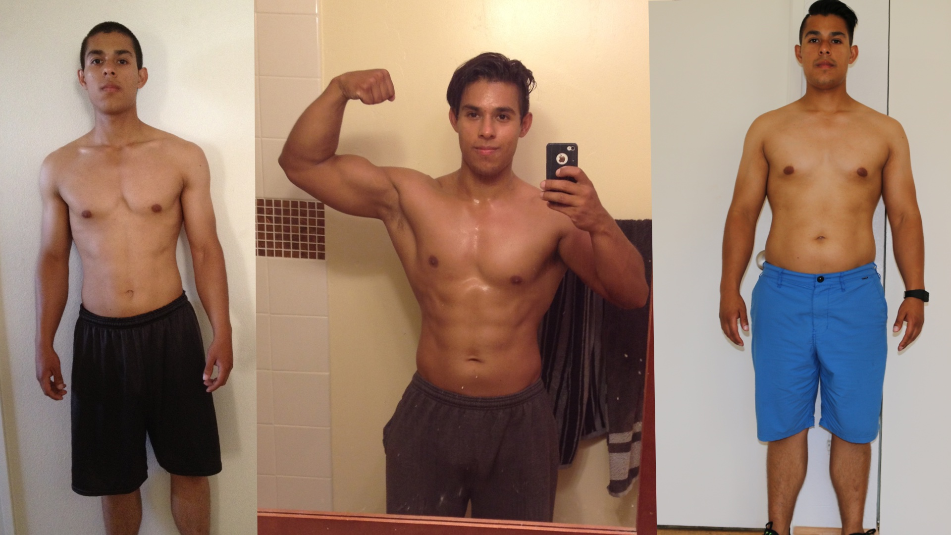 before and after calisthenics skinny to fit to fat