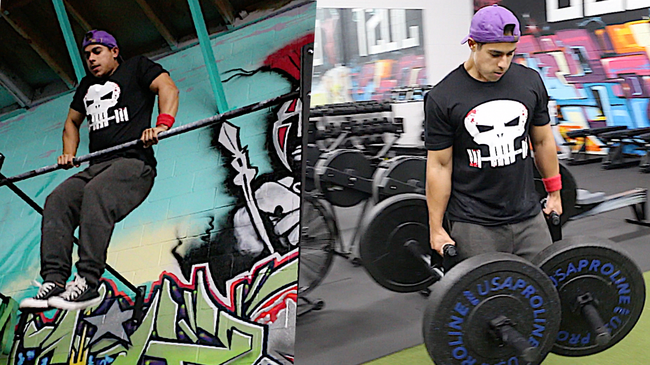 Arms & Back Punisher Workout (Calisthenics Freestyle & Farmer Walks)